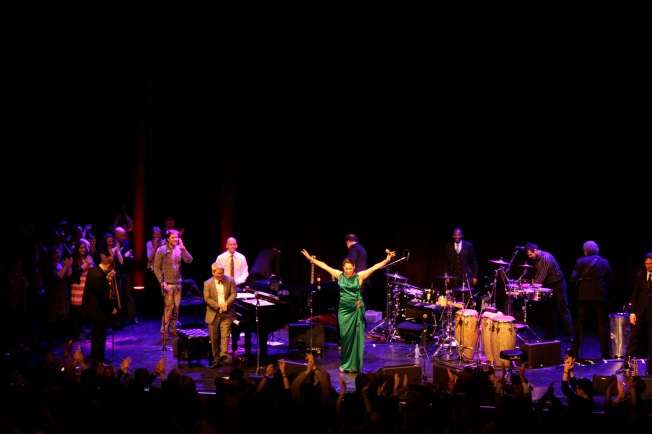 pink martini on stage