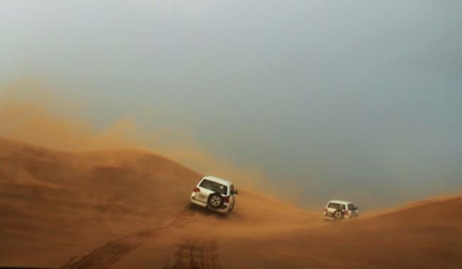 sand duning in Dubai